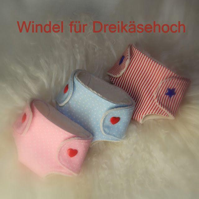 Barbaras Blumenkinder und Puppen Welt: DREIKÄSEHOCH GEHT SCHLAFEN #6 Windel für deine Pup...