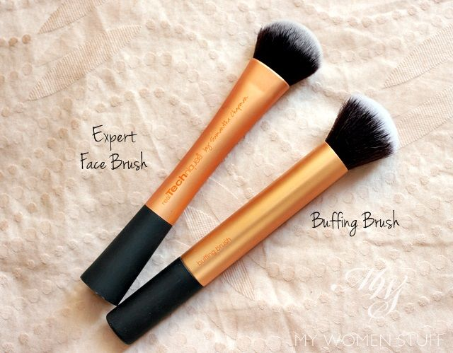 real techniques buffing brush and expert face brush