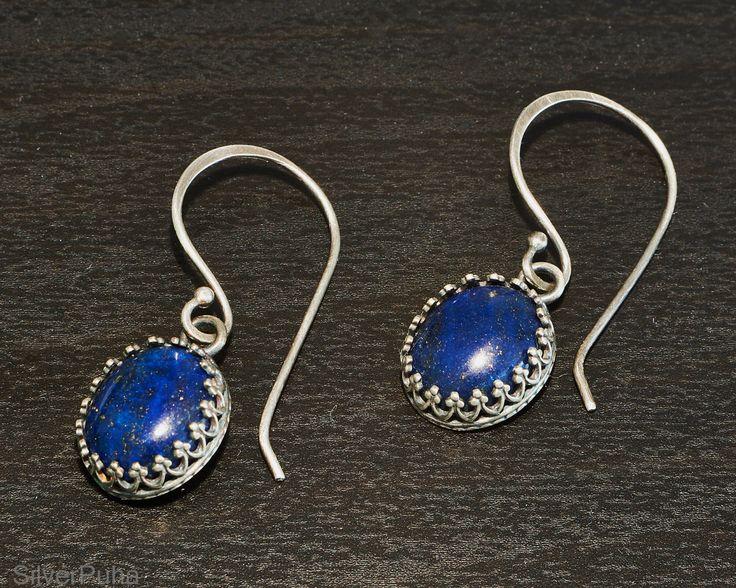 Lapis Lazuli sterling silver earrings by SilverPuha on Etsy