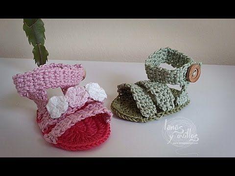Tutorial Sandalias Bebé Crochet Shoes (English subtitles) - YouTube