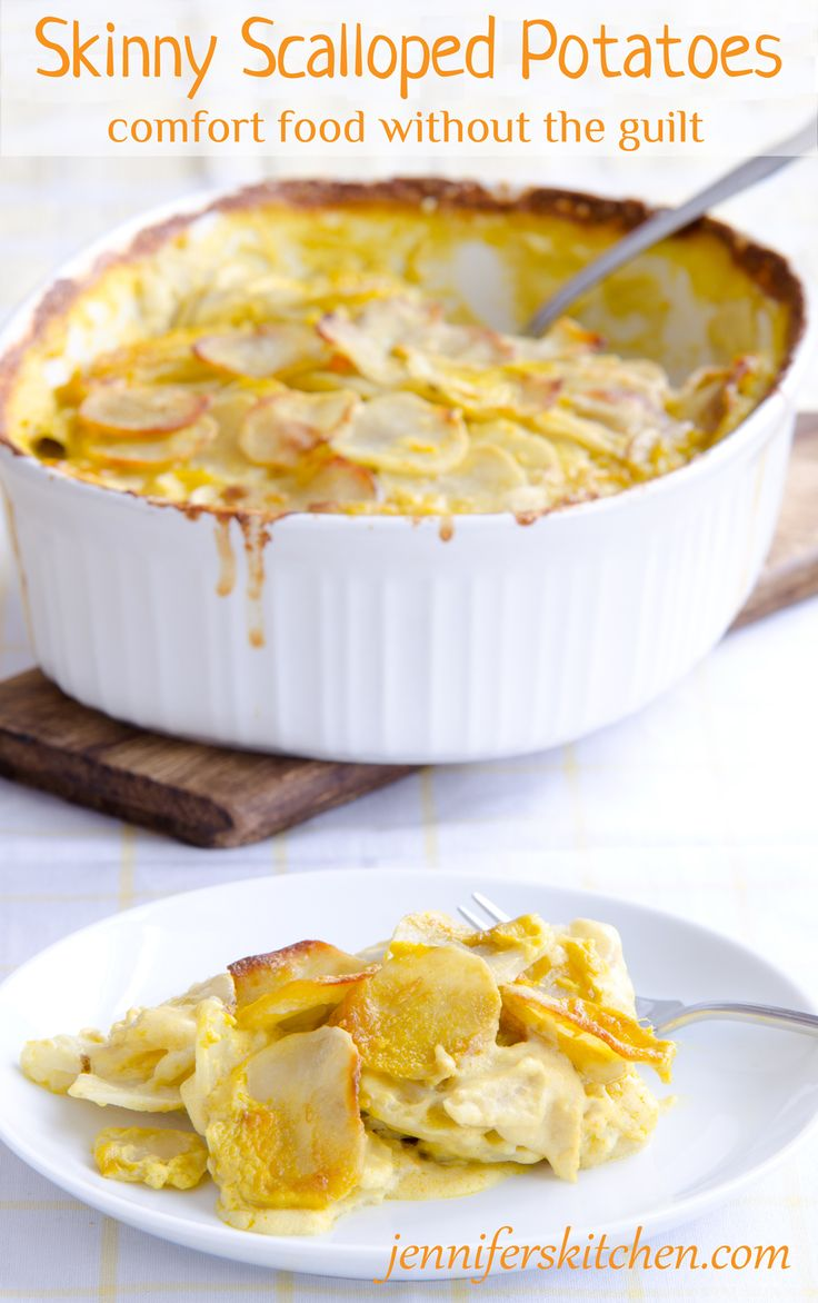 Skinny Scalloped Potatoes Recipe At Jennifer S Kitchen Sounds Delicious Simple To Make And Healthier Than Normal Vegan And Gluten Free