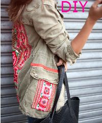 How to make a colourful jacket!
