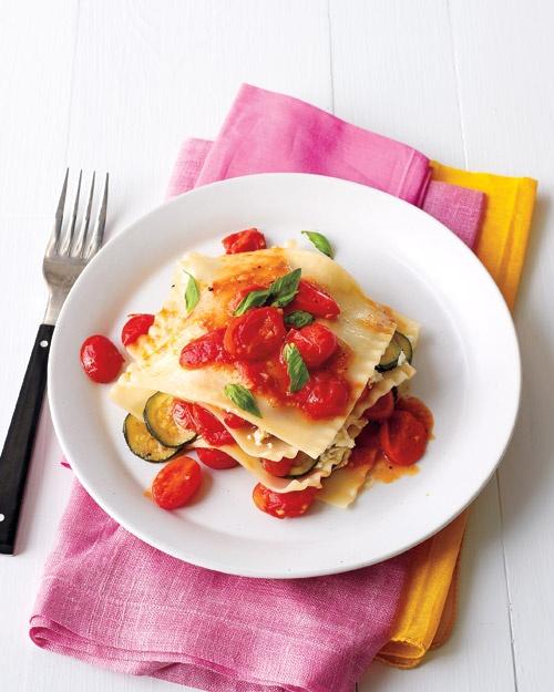 no-bake summer lasagna. ricotta, grated parmesan, evoo, salt, pepper ...