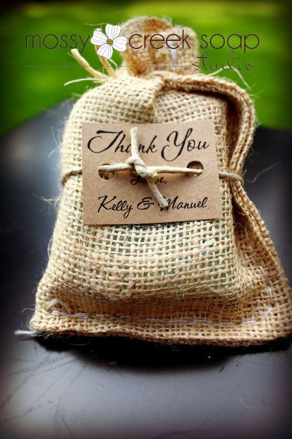 Burlap Wedding Favor - Rustic Wedding Favor via etsy