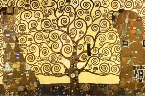 The Tree of Life, Stoclet Frieze - by Gustav Klimt - c.1909 http://www.voteupimages.com/?p=505