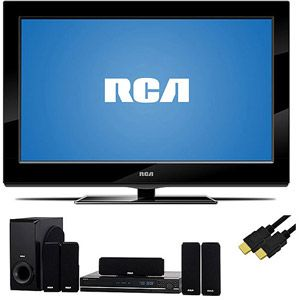 """RCA 32"""" LCD 1080p 60Hz, 32LB45RQ, RCA Home Theater System, 6ft HDMI Cable, TV Bundle"""