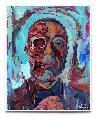 INSIDE THE ROCK POSTER FRAME BLOG: Rich Pellegrino Gustavo Fring Breaking Bad Print