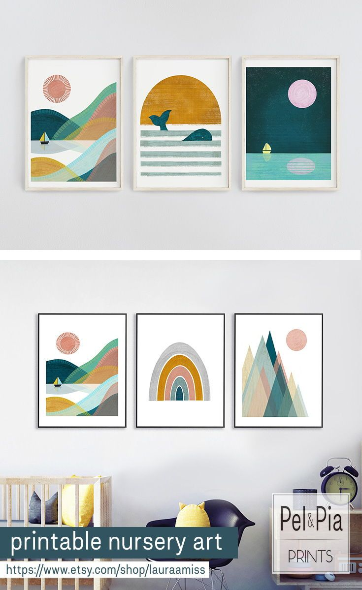 Simple Way To Add Stylish And Colorful Art To Your Living Room Or Kids Bedroom Nursery Wall Art T Printable Nursery Art Nursery Wall Art Colorful Wall Art