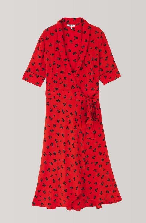 6a5ef5a78 Emory Crepe Wrap Dress, Fiery Red | APPAREL i 2019 | Kjoler, Tøj og Sko