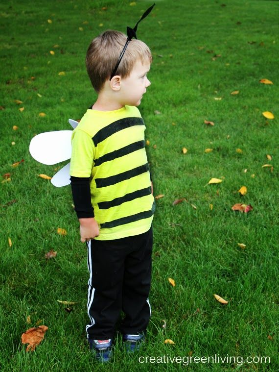 Creative Green Living: Bumble Bee Costume Tutorial {Inexpensive & No-Sew}