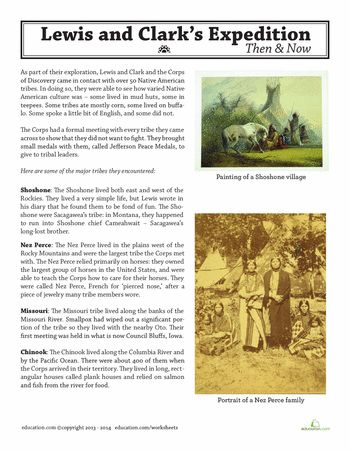 Worksheets: Lewis and Clark: Native Americans