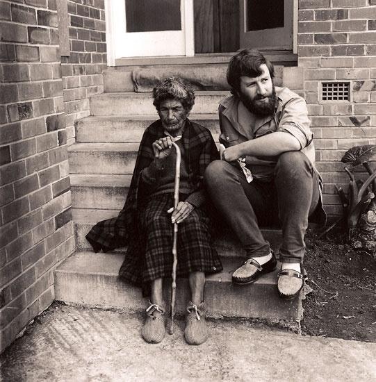 Ngakahikatea Whirihana with Michael King, 1970 - Marti Friedlander