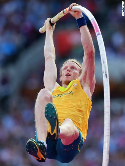 Steven Hooker of Australia competes during the men's pole vault final.    London Olympics 2012 Day 14: The best photos of the Olympics - CNN.com