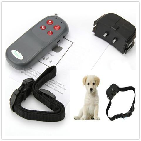 Portable No Harm Electric 4 in 1 Remote Control Small Medium Pet Dog Training Shock Collar Anti Bark Mascotas Cachorro Honden