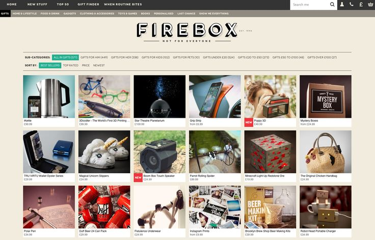 Firebox homepage