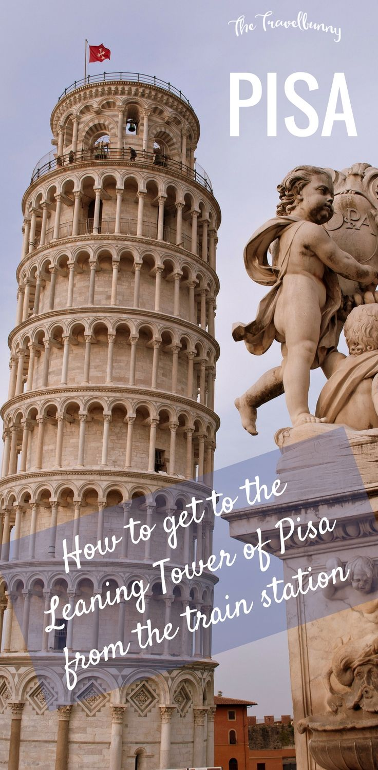 How to get from Pisa Centrale train station to the Leaning Tower of Pisa - walking route and map included via @thetravelbunny