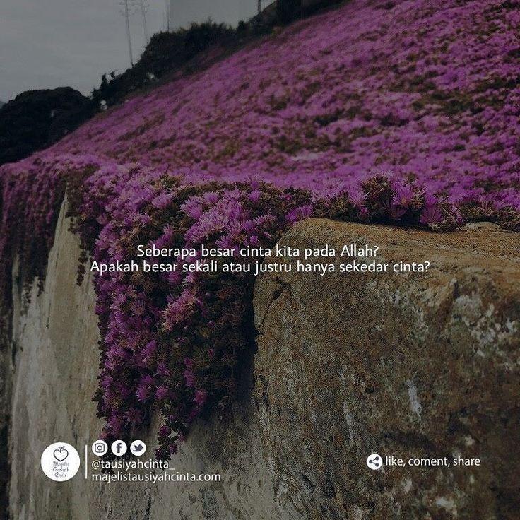 Bagaimana dengan sholat kita? Jika kita dirikan sholat diawal waktu dengan mudah dan tanpa paksaan dari siapapun itu berarti kau mencintai-Nya karena sholat adalah waktu untuk kita bermesra dengan Allah. . Berapa lama kita membaca surat cinta Allah yakni Al-qur'an dalam sehari? Berapa banyak makna yang dapat kita ambil dari membaca Al-qur'an? Berapa banyak yang sudah kita amalkan dalam kehidupan kita sehari-sehari? Jika kita senang berlama-lama membaca Al-qur'an kemudian memahami maknanya…