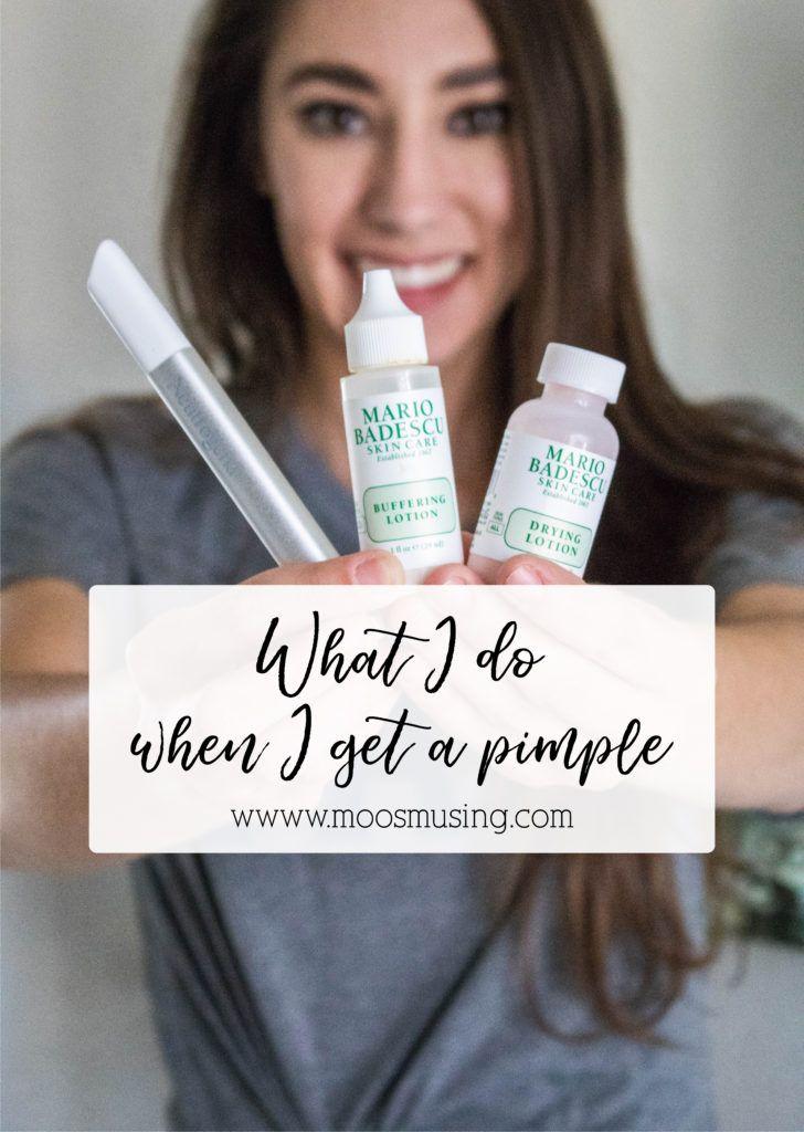 How I Treat A Pimple