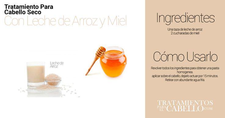 Leche de Arroz y Miel para Lavar el Cabello | Los Mejores 20 Tratamientos Caseros Para El Cabello Seco