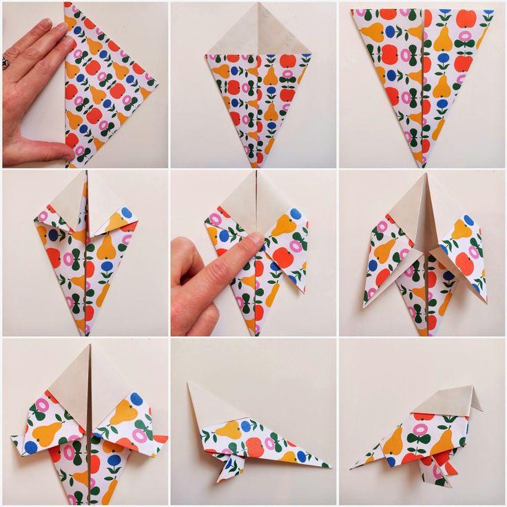 DIY origami bird  - www.wimketolsma.nl