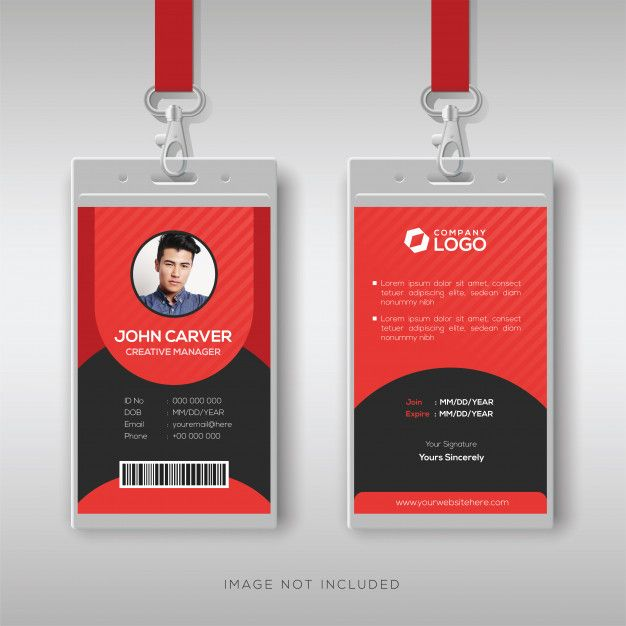 Multipurpose Red Id Card Design Template Id Card Template Graphic Design Business Card Card Design