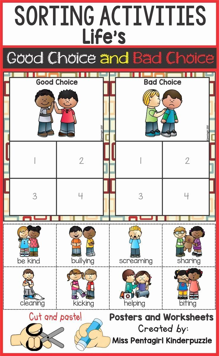 Good Choice Bad Choice Worksheets For Kids Fresh Sorting Activities Life S Good Choic Social Emotional Skills Social Emotional Learning Teacher Favorite Things [ 1198 x 736 Pixel ]