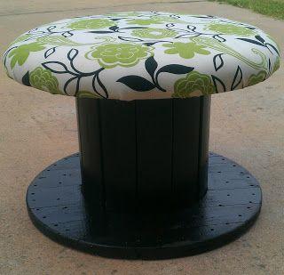 Awesome ottoman!  (Wood Spool Furniture - Google Search)