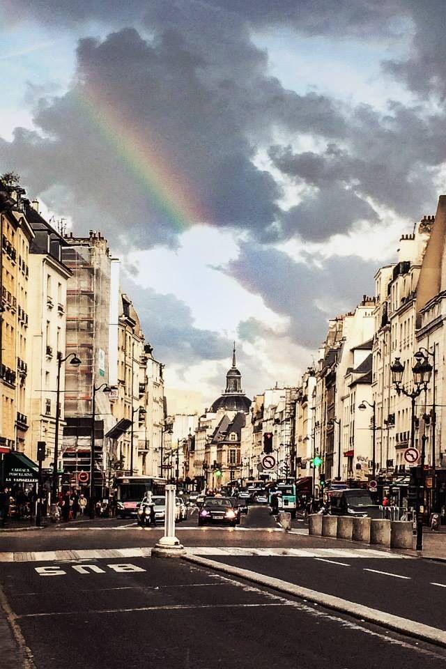 Rainbow over St Paul, Paris. France