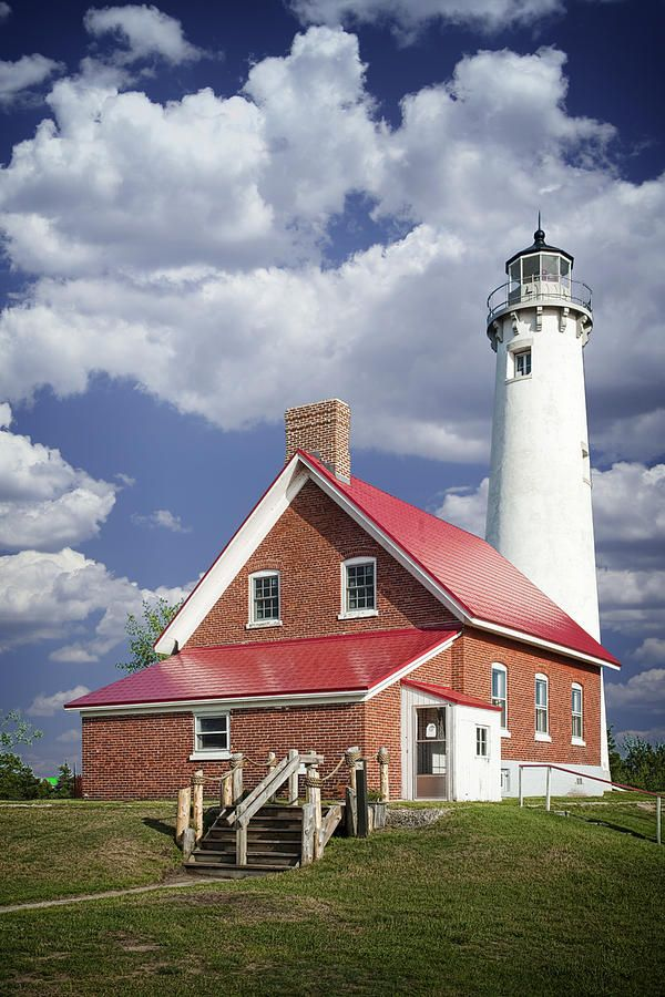 Tawas Point Lighthouse at East Tawas Michigan