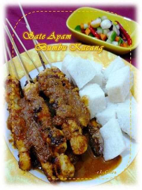 Citra's Home Diary: Sate Ayam Bumbu Kacang (Indonesian Chicken Satay with peanut sauce)