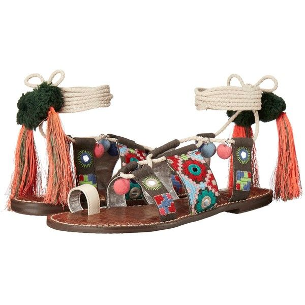 Sam Edelman Gretchen Women's Sandals (515 RON) ❤ liked on Polyvore featuring shoes, sandals, sam edelman shoes, boho sandals, open toe sandals, laced sandals and laced up shoes