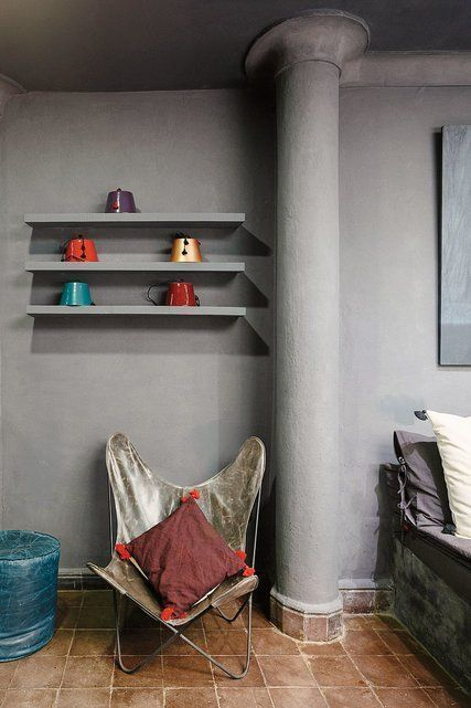 the idea of floating shelves in kitchen monochromatic with the wall rh pinterest com