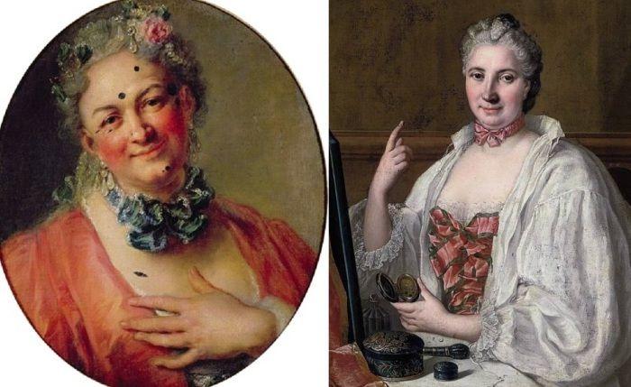 «Пятнышко красоты» – мушка как неотъемлемое орудие флирта в Галантном веке http://kleinburd.ru/news/pyatnyshko-krasoty-mushka-kak-neotemlemoe-orudie-flirta-v-galantnom-veke/  Эпоху правления Людовика XIV еще называют Галантным веком. Дамы и кавалеры носили парики, обувь на каблуках, выбеливали себя до неузнаваемости пудрой, красили губы и, конечно же, клеили на лица соблазнительные мушки. Эти искусственные родинки были буквально неотъемлемым аксессуаром аристократии, без которого нельзя…