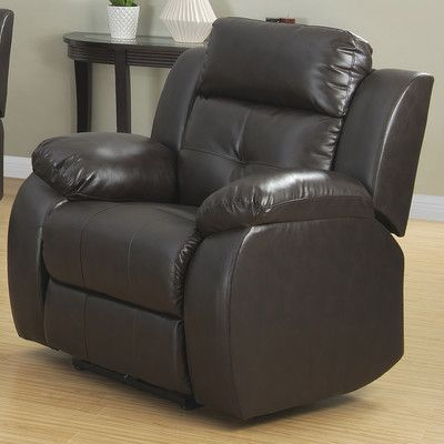 AC Pacific Troy Transitional Glider Reclining Arm Chair Type: Power