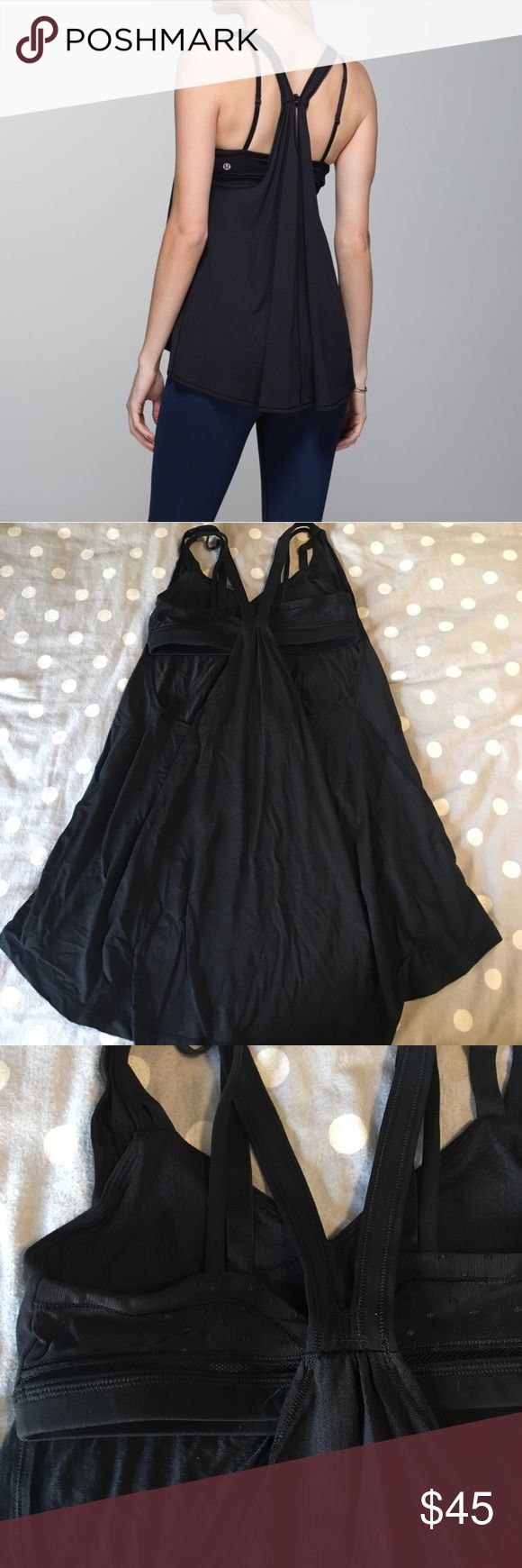 Polka dot strappy oneness tank Amazing oneness tank, strappy and float perfect for Lounging or yoga!! Like new condition! lululemon athletica Tops Tank Tops