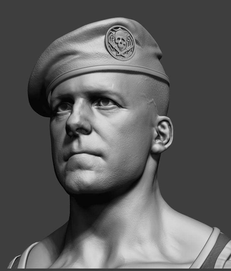 military guy by Arash Beshkooh | Realistic | 3D | CGSociety