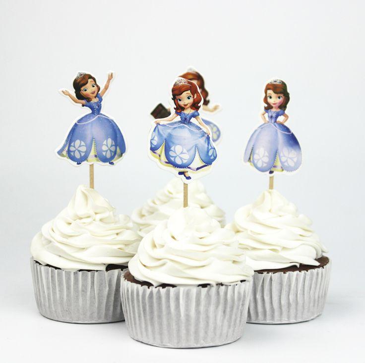 Princess Sofia Cupcake Toppers //Price: $10.95 & FREE Shipping //     #cakedecorating