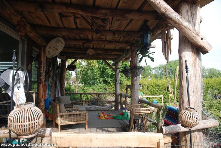 Veranda boomstampalen ontwerp achtertuin pinterest see best ideas about veranda boomstam - Buitentuin ontwerp ...