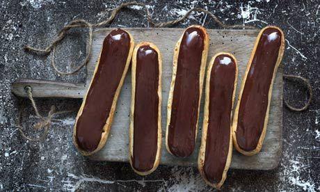Raymond Blanc's chocolate éclairs. Photograph: Jean Cazals/Bloomsbury