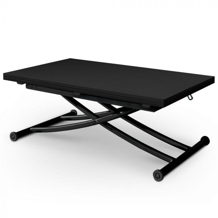 Table Basse Relevable Carrera Noir Carbone En 2020 Table Basse Relevable Table Basse Table Basse Noire