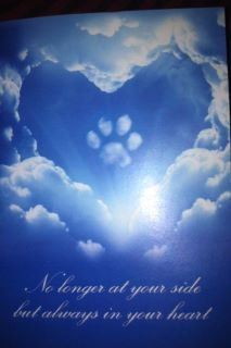A friend received this after the loss of her dog. Stuff like this I am hoping will help in the days ahead when I have to say goodbye to my precious labby girl