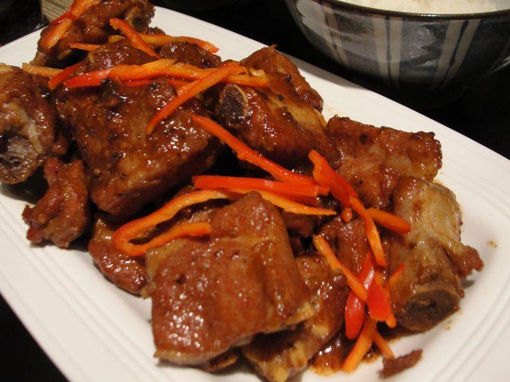 Salty rib with fish sauce (suon ram man)