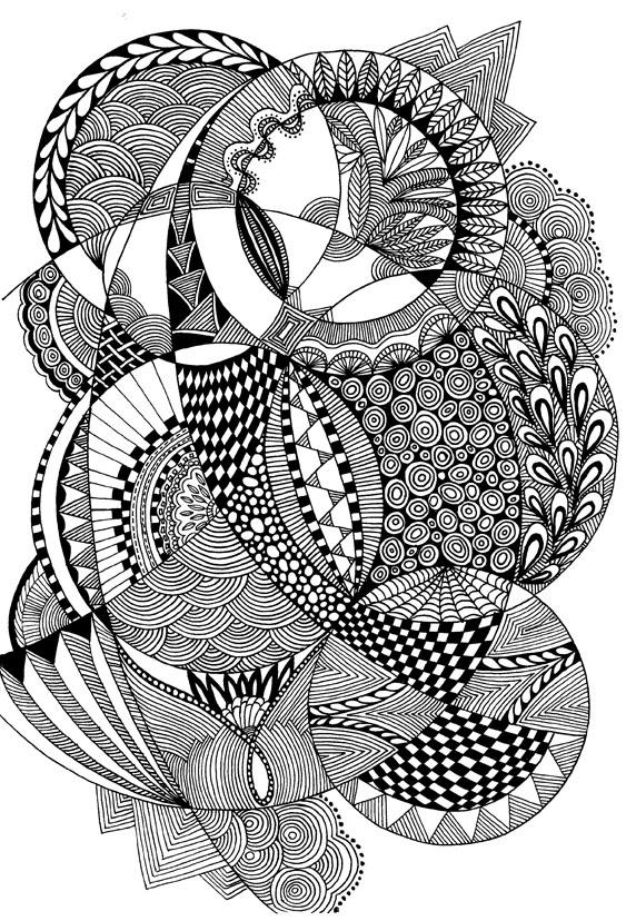 circles doodle - Zentangle like - zentangle inspired - #zetangle -