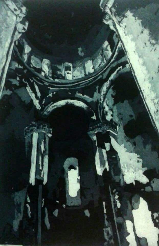 Gravür (Engrave)  Teknik : AQUATINTA  Ani katedrali 60x40 cm 2015