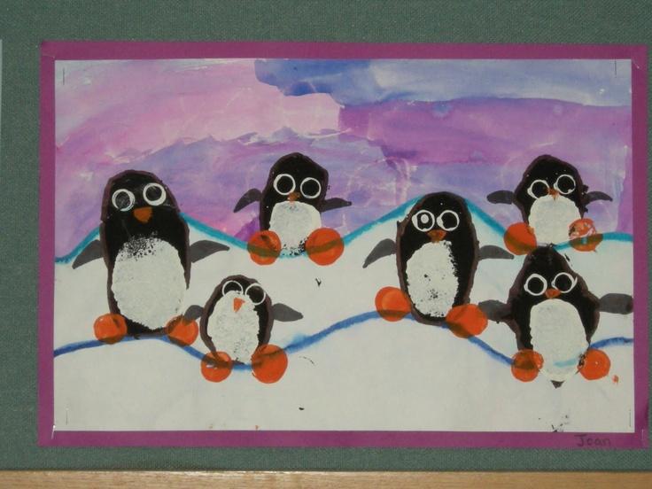 Make 3 penguins foreground, middle ground, & background