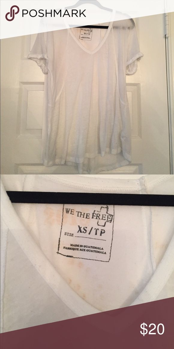We The Free Fallin Tee - Free People We The Free Fallin Tee - Free People. Size XS. Slouchy, oversized fit. It is a bit sheet, but I usually wear it with a nude bra and I have no problems. In excellent condition. Free People Tops Tees - Short Sleeve