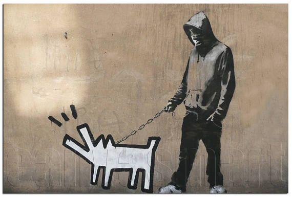 Barking Dog Banksy Graffiti Spray Painting Stenciling
