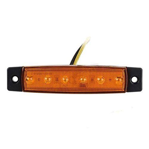 AKSSWEET 4pcs 6 LED LKW Bus Boot Lampe Anh Nger Seitenmarkierungs Indicators Hellgelb