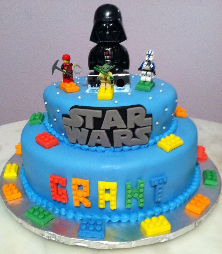 star wars & Lego cake