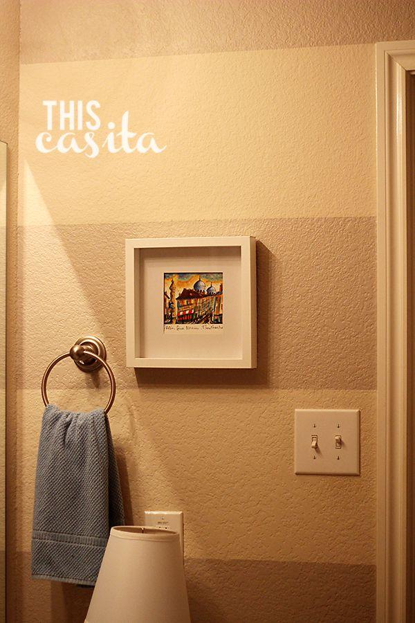 This Casita: Striped Bathroom Walls